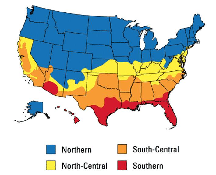 climate zone of north america
