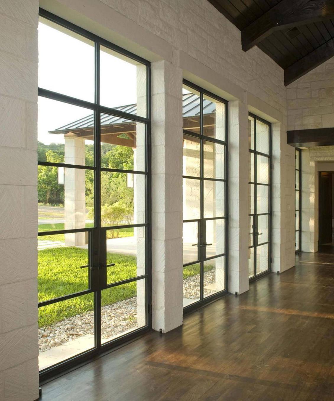 Exterior Steel Doors with Glass Custom Glass Front Doors