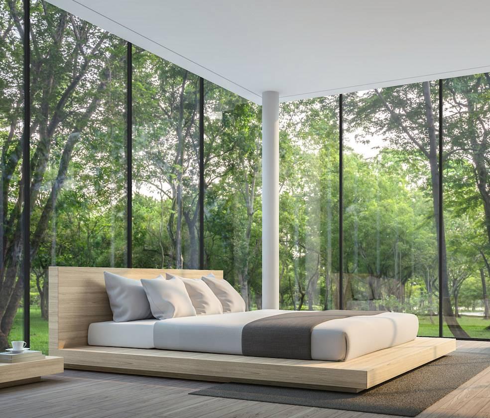 Eurolite Steel Door in a Bedroom